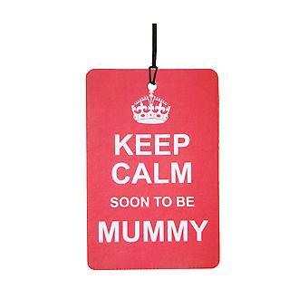 Keep Calm Soon To Be Mummy Car Air Freshener