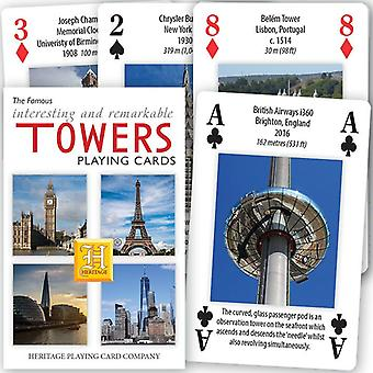 Famous Towers Deck of 52 Playing Cards + Jokers (hpc)