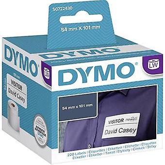 DYMO S0722430 Label roll 101 x 54 mm Paper White 220 pc(s) Permanent Shipping labels