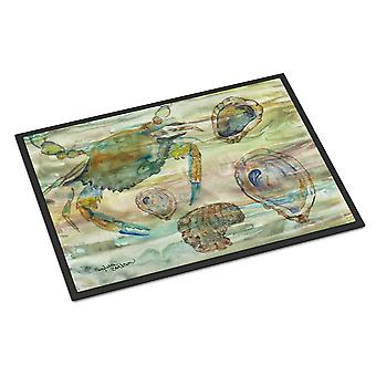 Crab, Shrimp and Oyster Sunset Indoor or Outdoor Mat 18x27