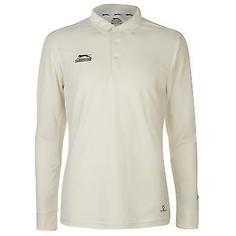 Slazenger Mens Long Sleeve Cricket Shirt Top
