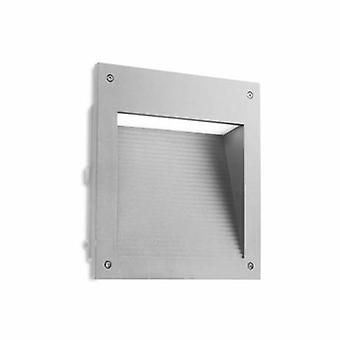 LED extérieur grand mur encastré gris clair Ip65