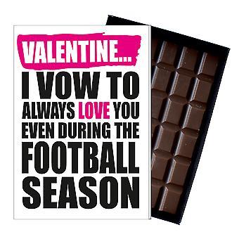 Funny Valentine fotboll fotbollspelare män kvinnor choklad gratulationskort IYF174