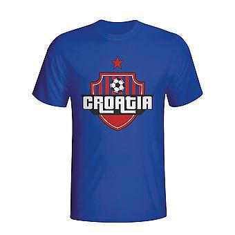 Croácia Country logo T-shirt (azul)-Kids