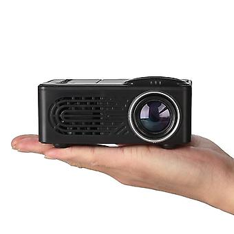 Mini projector lcd led portable projector-black eu plug