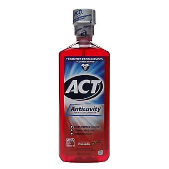 Act alcohol free anticavity fluoride mouthwash, cinnamon, 18 oz