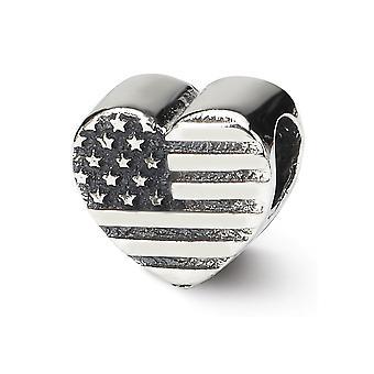 925 hopeaa kiillotettu antiikki viimeistely heijastukset sydän lippu helmi charmia