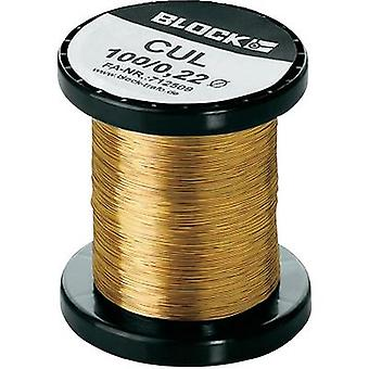 Enamel-coated copper wire Outside diameter (incl. coating)=1.12 mm 1 pack Block