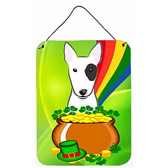 Bull Terrier St. Patrick's Day Wall or Door Hanging Prints BB1953DS1216