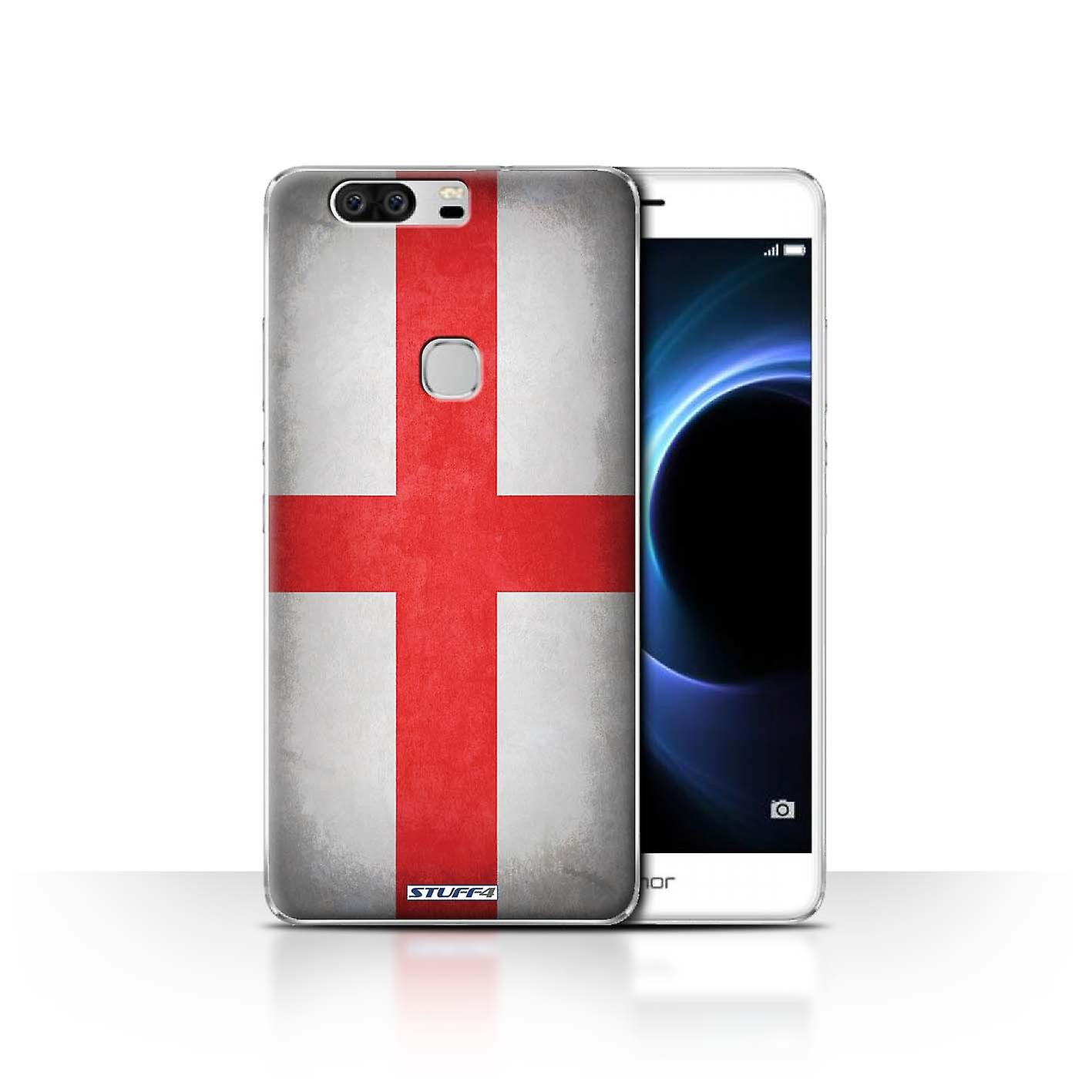 Stuff4 Case Cover For Huawei Honor V8 England English