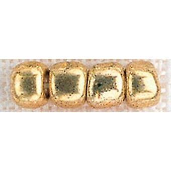 Mill Hill Glass Pebble Beads 5.5mm 30/Pkg-Old Gold PBB-05557