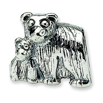 Sterling Silver Reflections Mama Baby Bear Bead Charm