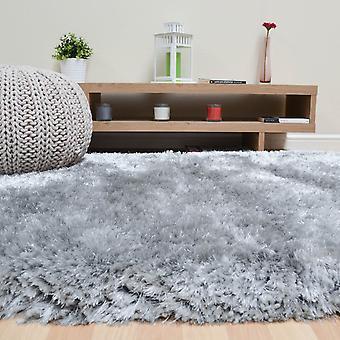 Plüsch Hochflor Teppiche In Silber