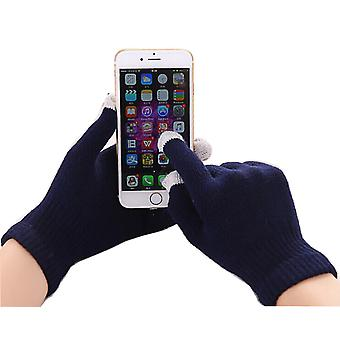 ONX3 Samsung Galaxy Xcover 4 (Navy Blue) Universal Unisex One Size Winter Touchscreen Gloves For All Smartphones / Tablets