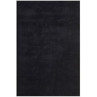 Bellagio Black Plain Viscose Rug