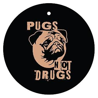 Pugs Not Drugs Car Air Freshener