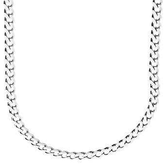 スターリング 925 シルバー縁石チェーン - 縁石 4、4 mm