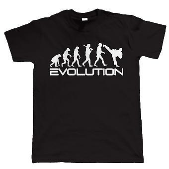 Evolution of Martial Arts, Mens Funny Tshirt
