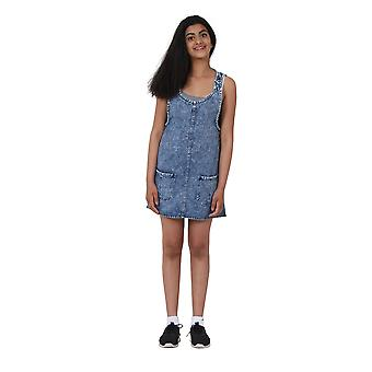 Stonewash Denim Pinafore Age 10-16 Years Short denim dress Teen Fashion