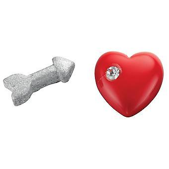925 Silver Heart And Arrow Earring