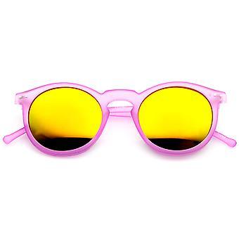 Ретро мода P3 рамка цвет линзы раунда рога оправе солнцезащитных очков