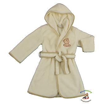 BlueberryShop  Embroidered Luxurious Hooded Soft Warm and Fluffy Fleece Bathrobe, Robe, Dressing Gowns 1-7 Yrs