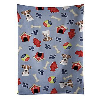 Toalla de cocina de perro casa colección Jack Russell Terrier
