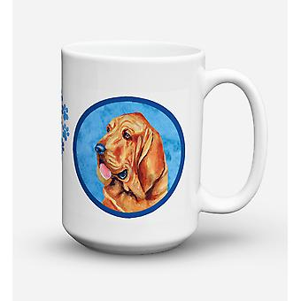 Bloodhound oppvaskmaskin trygt Microwavable keramisk kaffe krus 15 unse