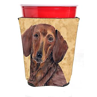 Carolines Treasures  SC9137RSC Dachshund Red Solo Cup Beverage Insulator Hugger