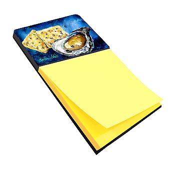 Oysters Two Crackers Refiillable Sticky Note Holder or Postit Note Dispenser