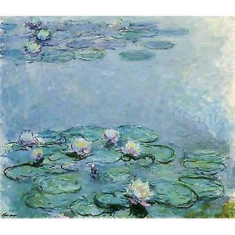 Impressão de cartaz nenúfares de Claude Monet