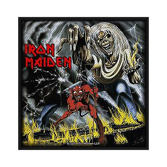 Iron Maiden Patch Number of the Beast Official New Black Woven (10cm x 10cm)