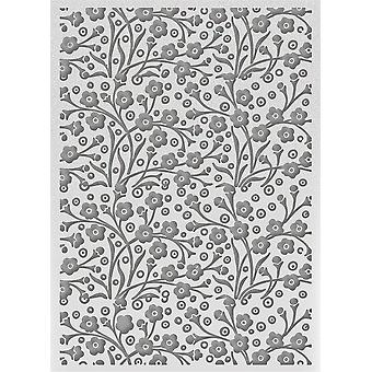 Ultimate Crafts Bohemian Bouquet Embossing Folder 5