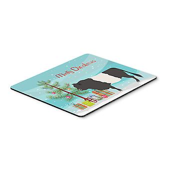 Belted Galloway Cow Christmas Mouse Pad, Hot Pad or Trivet