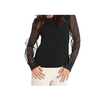 Jucca ladies J2622016003 black acetate blouse