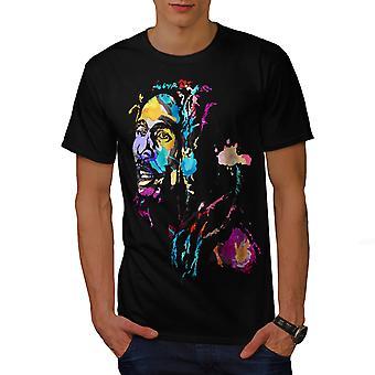 Marley Bob Colorful Men BlackT-shirt | Wellcoda
