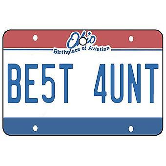 Ohio - Best Aunt License Plate Car Air Freshener
