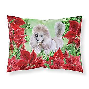 Poodle Poinsettas Fabric Standard Pillowcase