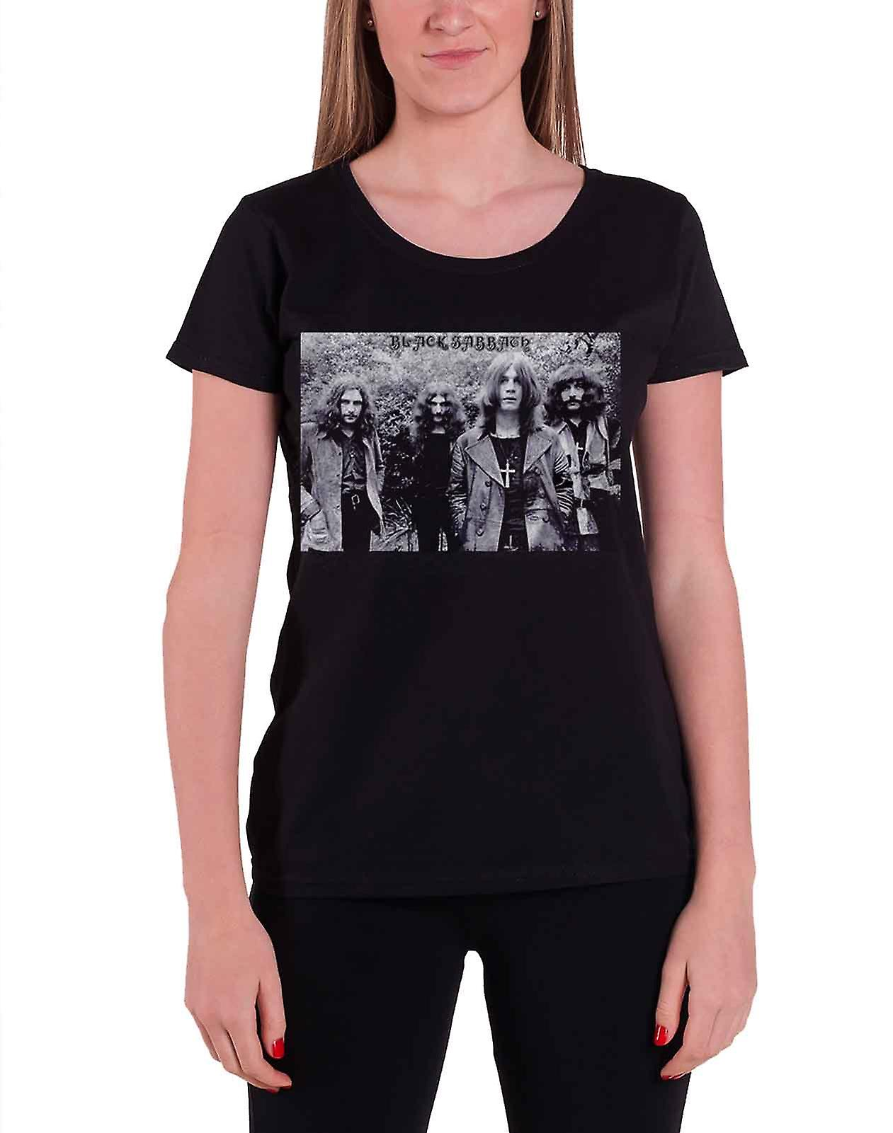 Black Sabbath T Shirt Group Shot vintage new Official Womens Skinny Fit Black