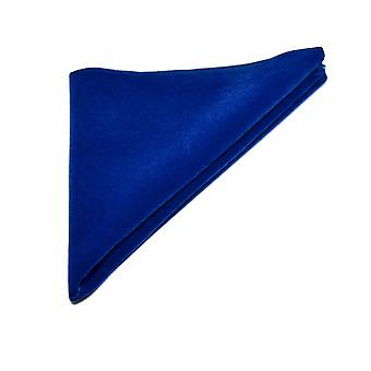 Plaza de bolsillo de lujo real azul terciopelo, pañuelo