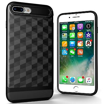 Cover for Apple iPhone 8 plus back cover case cell phone cover - cover 3D Prism design black