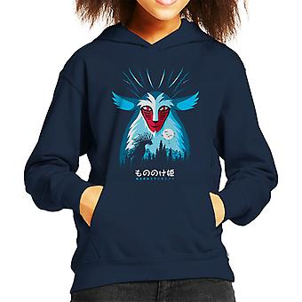 Princess Mononoke Spirit Pampling Kid's Hooded Sweatshirt