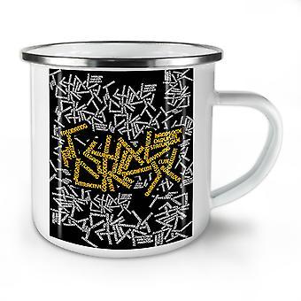 Beautiful Synonyms NEW WhiteTea Coffee Enamel Mug10 oz | Wellcoda