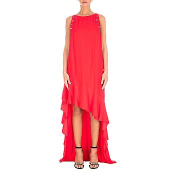 Pinko women's 1B127U6338R68 red rayon dress