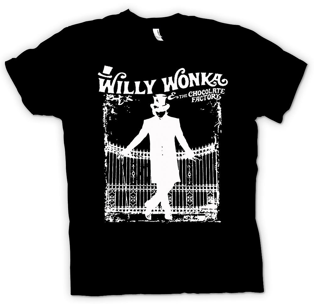 Womens T-shirt - Willy Wonka And Chocolate Factory - BW