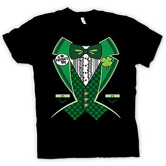 Womens T-shirt - St Patricks Day - Green Tuxedo