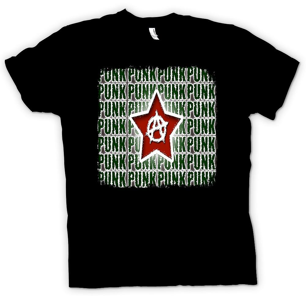 Mens T-shirt - Punkrock Anarchie - Design