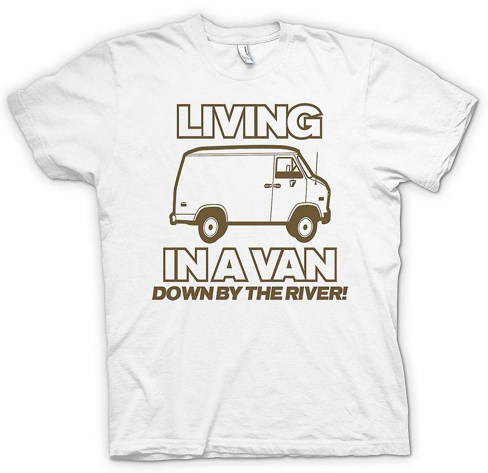 Womens T-shirt - Living In A Van, Down By The River - Quote