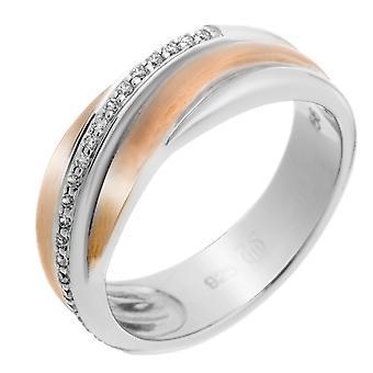 Orphelia argento 925 anello Bicoloror zirconio ZR-7118