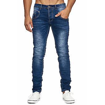 Herre rippet jeans ødelagt regelmæssig fit tilspidsede ben